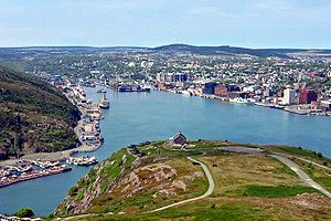 Downtown St. John's seen from Signal Hill