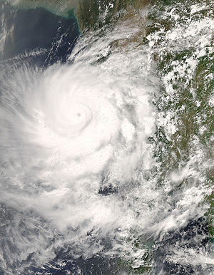 Very Severe Cyclonic Storm Nargis, seen from M...