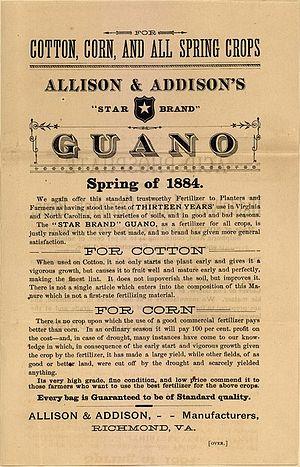 English: Allison & Addison advertisement for g...