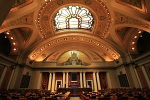 English: The House Chamber at the Minnesota St...