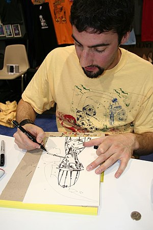 Jim Mahfood, American comic book creator.