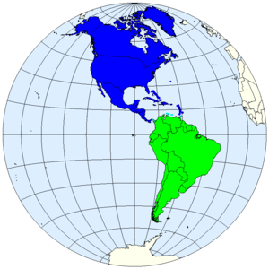 Division of the Americas into North and South ...