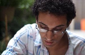 English: Mohammed Fairouz at work on his secon...