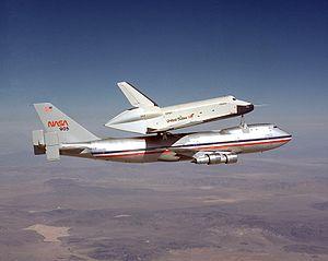 Enterprise during a captive flight