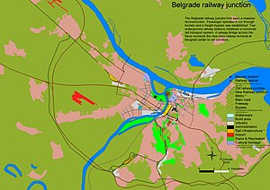 English: Belgrade Railway junction