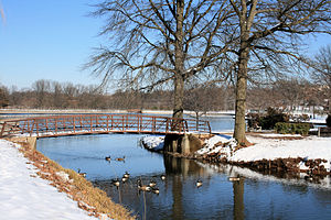 Winter in Roosevelt Park, Edison, New Jersey