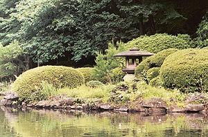 Traditional Japanese garden in Shinjuku Gyoen