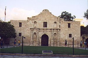 The Alamo Mission in San Antonio located at 29...