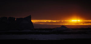 Sunset in the Southern Ocean, Antarctica