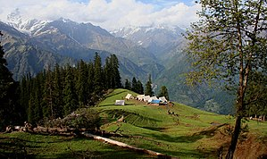 It was our second last camp at 11000 ft. & fir...