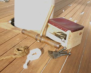The tools of traditional caulking; Caulking ma...