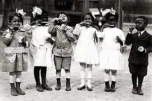 First graders from the Miner Normal School in ...