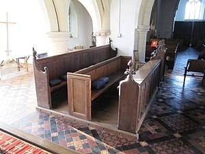 English: Choir stalls in the church Nice to se...