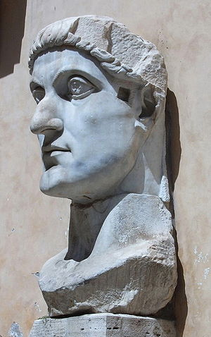 Head of the colossal statue of Constantine I, ...