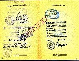 Visastempel der DDR