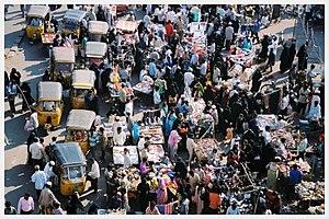 Eid crowds in Hyderabad.