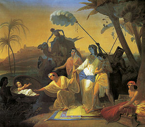 A painting by Konstantin Flavitsky of Pharaoh'...