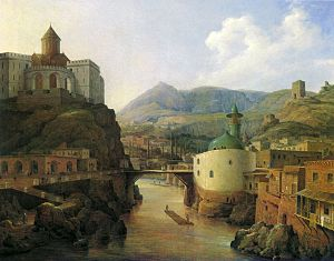 English: View of Tiflis by a Russian painter N...