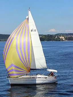 Segelboot Bodensee Mainau (Foto Hilarmont)