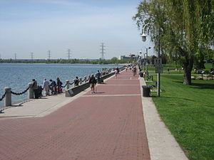 English: The photo is of Spencer Smith Park in...