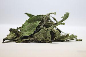Dry leaves of Stevia rebaudiana