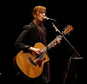 Suzanne Vega performing at the Lebanon Opera H...