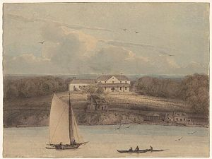 Sydney: Government House, an 1802 watercolour ...