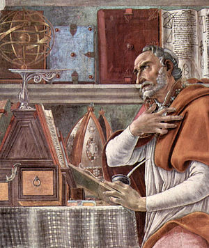 Augustine of Hippo by Sandro Botticelli, c. 1490.