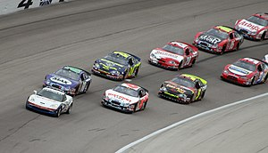 The NASCAR Busch Series field at Texas Motor S...