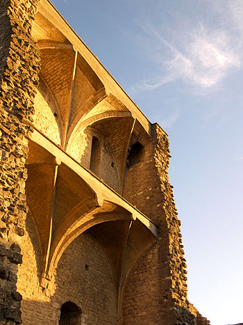 English: The Castle of Chateauneuf-du-Pape, su...