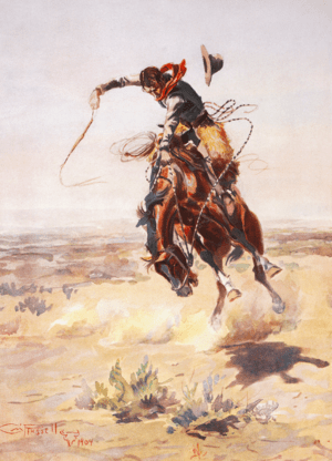 """A bad hoss"" by Charles Marion Russe..."