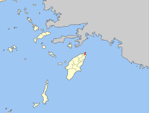 Locator map of Rhodos municipality (Δήμος Ρόδο...