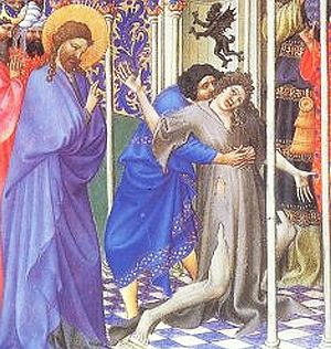 Jesus drives out a demon or unclean spirit, fr...