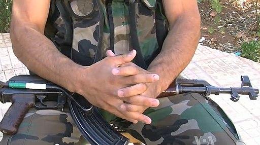 FSA soldier with AK47