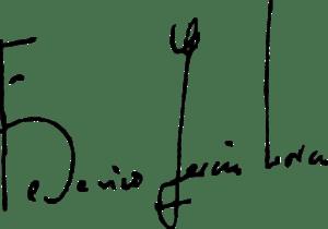 Español: Firma de Federico García Lorca.