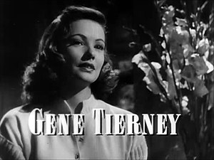 Cropped screenshot of Gene Tierney from the tr...