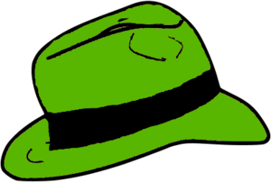 English: Fedora hat green