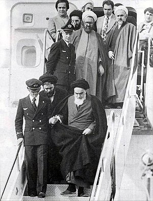 Ayatollah Khomeini returns to Iran after 14 ye...