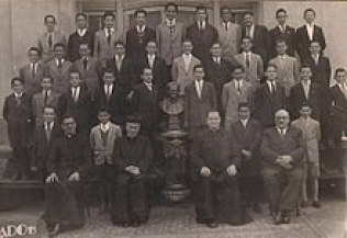 Jorge Mario Bergoglio (fourth boy from the left on the third row from the top) at age 12, while studying at the Salesian College