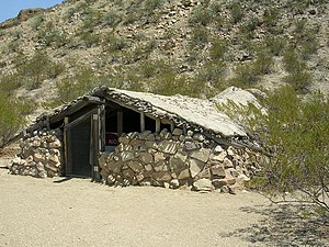 English: Luna Jacal shelter in Big Bend Nation...