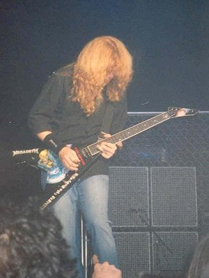 Megadeth frontman, Dave Mustaine in the middle...