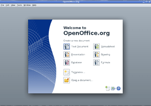 OpenOffice.org 3.0 Splashscreen on GNU/Linux