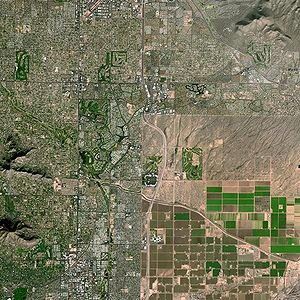East part of Phoenix (on the left) and Scottsd...