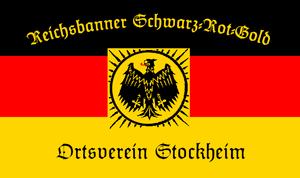 Deutsch: Fahne des Reichsbanners Schwarz-Rot-G...