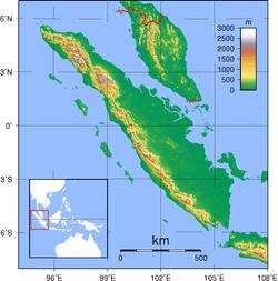 Topografi Sumatra