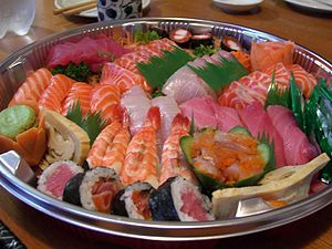 Sushi Sashimi Platter at Suzuran Japan Foods T...