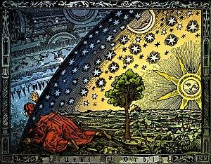Universum - C. Flammarion, Holzschnitt, Paris ...