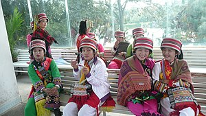 English: Representatives of the Yi Minority in...