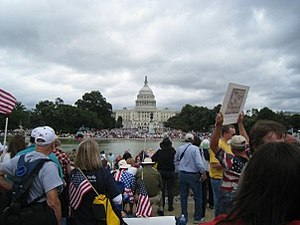 Tea Party protesters fill the National Mall on...