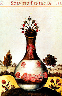 Imagen de la Unión alquimica procedente del libro Donum Dei.